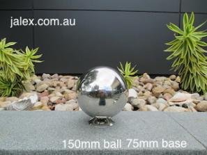 150mm Stainless Steel Ball on 75mm Hemisphere