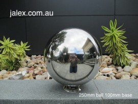 250mm Stainless Steel Ball on 100mm Hemisphere