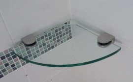 Glass Shelf Corner 250mm x 250mm - AUSTRALIAN MADE SAFETY GLASS