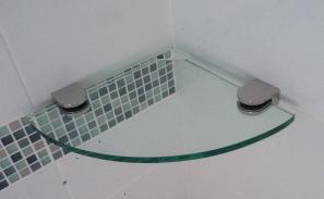 Glass Shelf Corner 250mm x 250mm - AUSTRALIAN MADE SAFETY GLASS