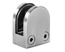 A1006 - Small Round 316 Stainless Steel Glass Clamp