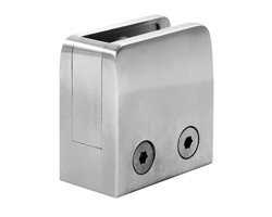 A1350R-316S Square bottom corner clamp with retainer plate