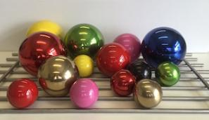 Coloured Stainless Steel Balls  -  50mm - 300mm