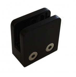 A1155 - BLACK Small Square 316 Stainless Steel Glass Clamp
