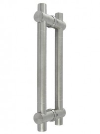25mm Round Dimpled 350mm Stainless Steel Door Handles