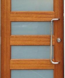 C Shape Pair Stainless Steel Door Handles - 25mm Round