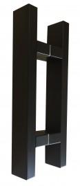50mm(Wide) x 25mm BLACK 450mm Rectangular Pair Stainless Steel Door Handles