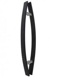 Aluminium Black & Silver Bow Handles 600mm