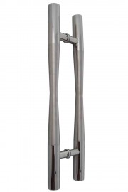 38mm Round Tapered 600mm Stainless Steel Door Handles