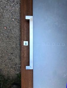 Offset 38mm(Wide) x 25mm Rectangular Stainless Steel Door Handles