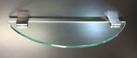 Glass Shelf - 500mm x 150mm Curved