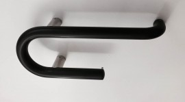Grab Rail with  Single Toilet Rolll Holder black