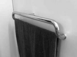 Grab Rail Stainless Steel with Towel Rail 750mm - Mirror - Black - White