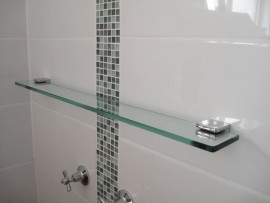 Glass Shelf 1000mm x 100mm - AUSTRALIAN MADE SAFETY GLASS
