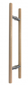 Unfinished Tas Oak Timber Round Pair Handles 25mm -450-600-900-1200mm