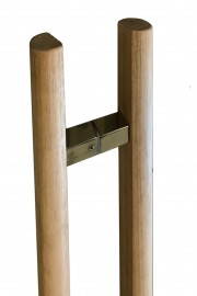 Unfinished Tas Oak Pair Timber Handles half round