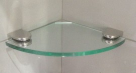 Glass Shelf Corner 200mm x 200mm SAFETY GLASS