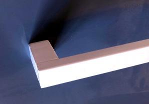 Towel Rail 25x13mm  WHITE Rectangle Design Various Lengths