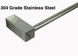 Towel Rail 12mm round adjustable bar square bases TR4