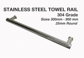 Towel Rail  25mm  round Design Various Lengths TR6