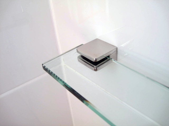 Glass Shelf MIRROR Stainless Clamps VARIOUS SIZES AUSTRALIAN MADE SAFETY  GLASS