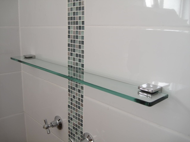 1000mm Long Glass Shower Shelve Jalex Hardware